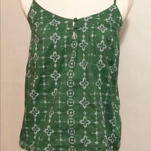 Lucky Brand Women's Green Tank Top XS NWT